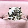 2.05ct Old European Cut Diamond Platinum Solitaire, GIA K SI1 16