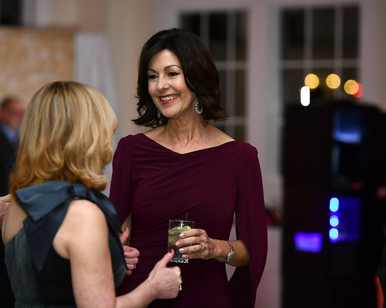 11/16/2019 Mike Orazzi | StaffrJean Barwis talks with Mary Lynn Gagnon during the Bristol Hospital Ball held at the Aqua Turf Club in Southington on Saturday night. r