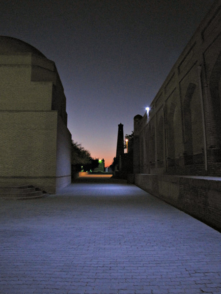 early morning light in Kiva