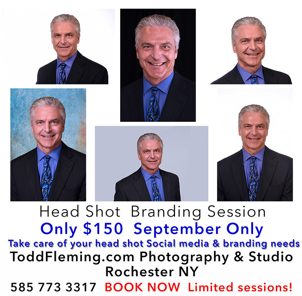 Sept 2020 Business Head Shot Branding Session $150