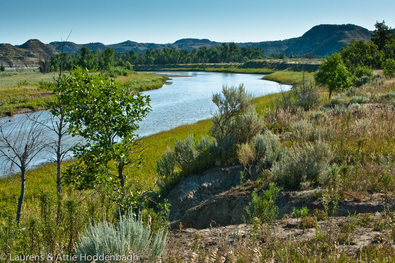 Little Missouri River in Theodore Roosevelt National Park