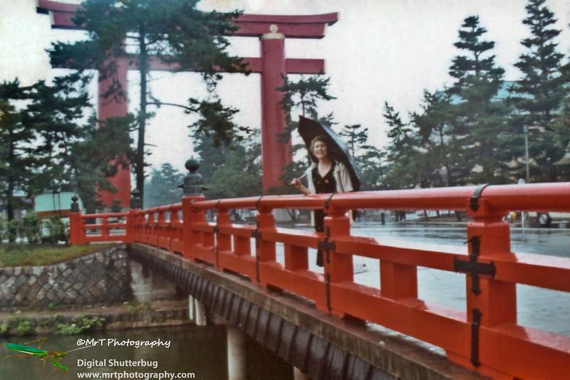 Torii to Heian shrine Kyoto