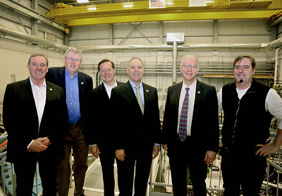 Congressmen tour Fermilab