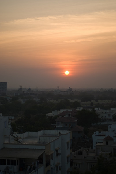 Sunset in Ahmedabad.