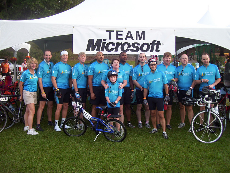 Day 1 Microsoft Team - CW Williams, Ed Thralls, Wayne Magee, Ed Smith, Hans Cook, Shawn Dennard, Brynn Thompson, Antonio Lofton, Michael Pathi, Joe Porter, Michael Koch, Merrill Oakes, Zev Yanovich