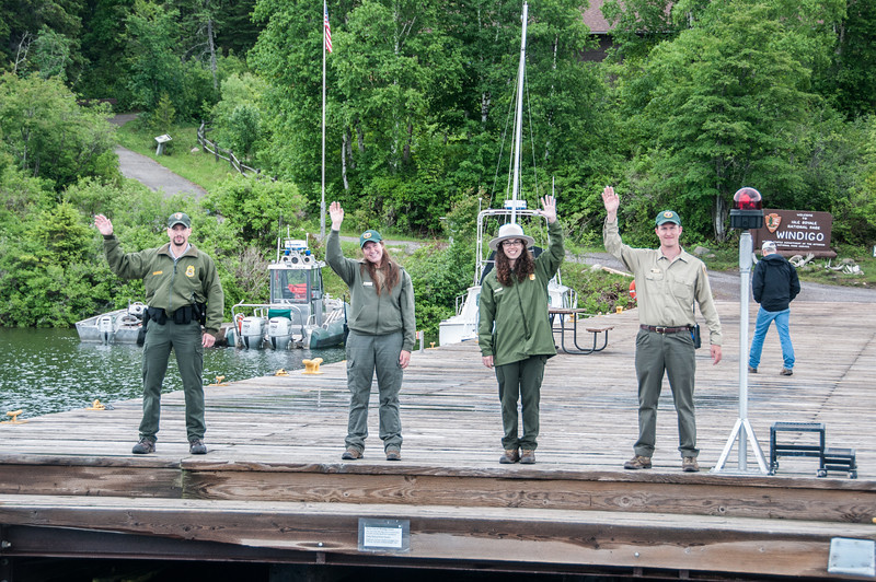 Park rangers at Isle Royale National Park in Michigan