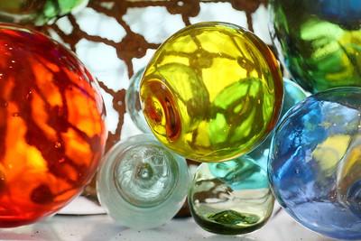 Glass floats at Barrier Island Center, Machipongo, Eastern Shore, VA. © 2020 Kenneth R. Sheide