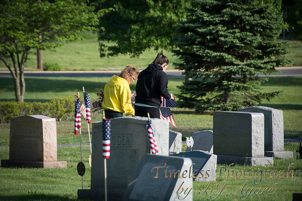 VFW Post 253 Decorating Vets Graves for Memorial Day 2014
