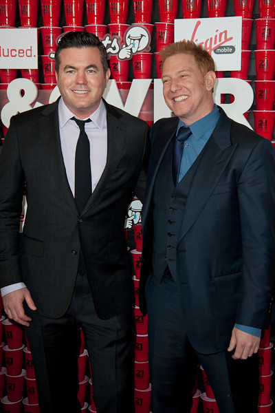 WESTWOOD, CA - FEBRUARY 21: Relativity Media's Tucker Tooley and Ryan Kavanaugh attend Relativity Media's '21 and Over' premiere at Westwood Village Theatre on Thursday, February 21, 2013 in Westwood, California. (Photo by Tom Sorensen/Moovieboy Pictures)
