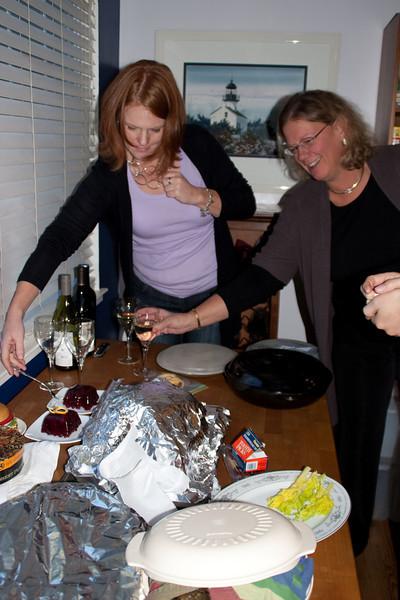 Dawn and Ann getting ready.