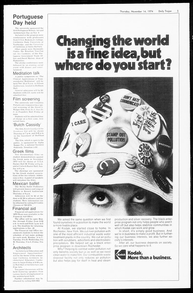 Daily Trojan, Vol. 67, No. 41, November 14, 1974