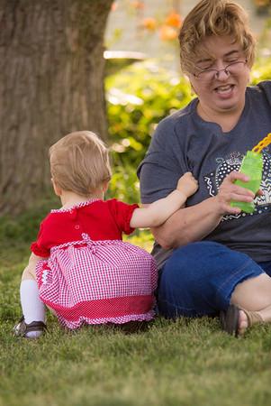 Alice and Grandma Make Bubbles - July 4