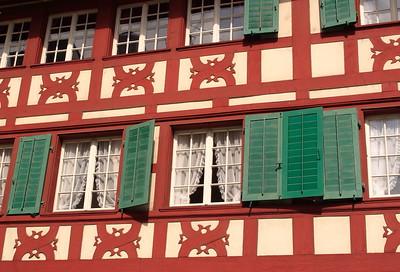 A half-timbered building near the Hof Church in Lucerne, Switzerland. © 2005 Kenneth R. Sheide