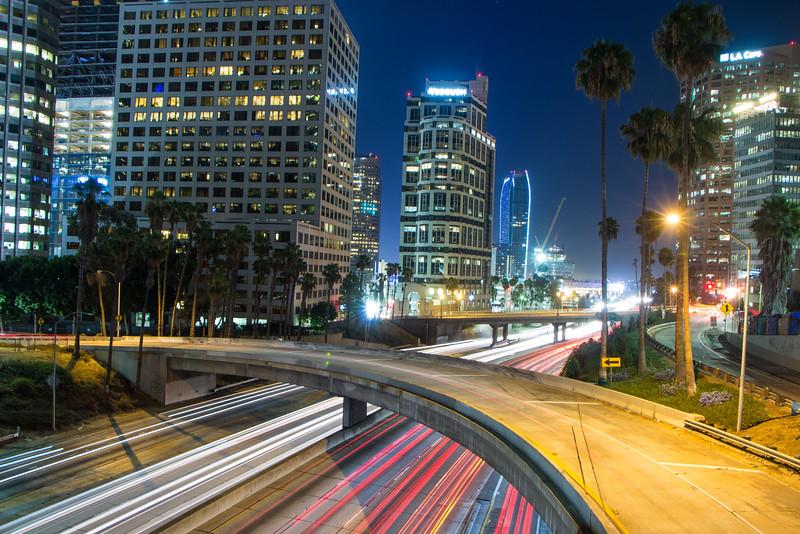6th Street Bridge over the 110 in Downtown LA