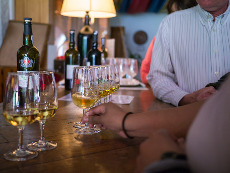 Tasting the white port