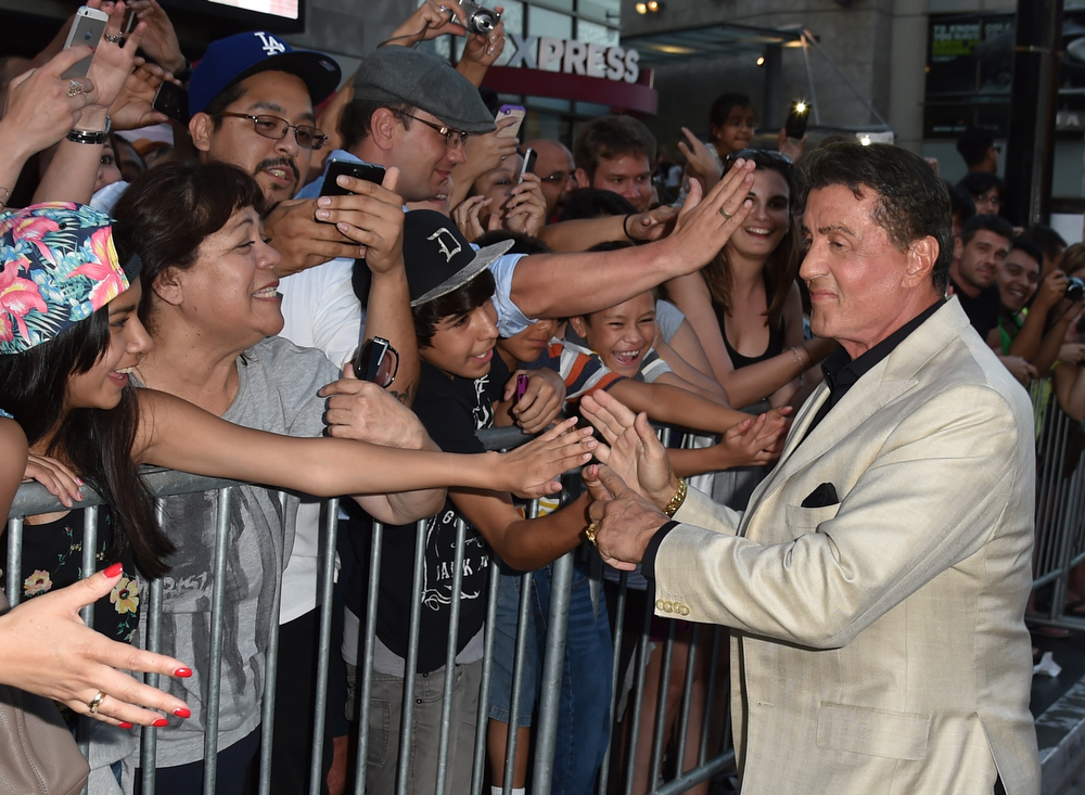 """. Actor/writer Sylvester Stallone attends the premiere of Lionsgate Films\' \""""The Expendables 3\"""" at TCL Chinese Theatre on August 11, 2014 in Hollywood, California.  (Photo by Kevin Winter/Getty Images)"""