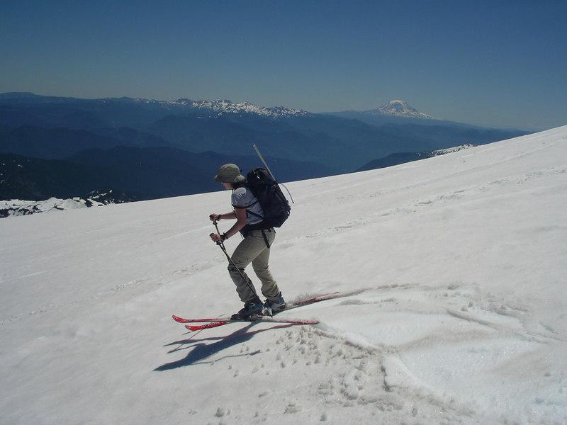What am I doing lifting my ski? That's bad.