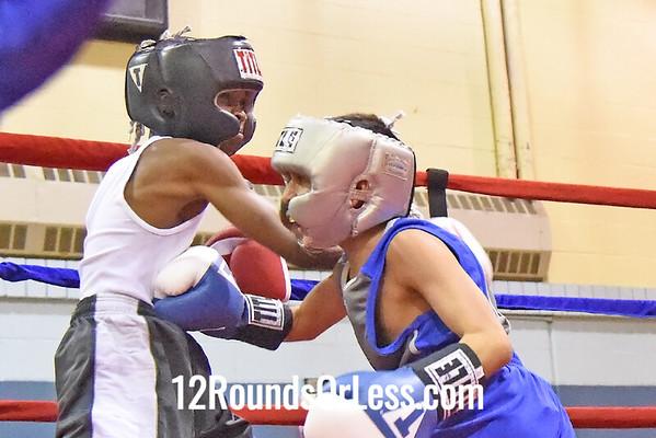 Bout 4 Daben Figueroa, 11 yrs, 58 lbs, Coach Tulley -vs- Abdullah Mason, 10 yrs, 65 lbs, Coach Al
