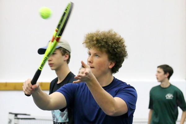 WUHS Boys Tennis, Preseason Practice