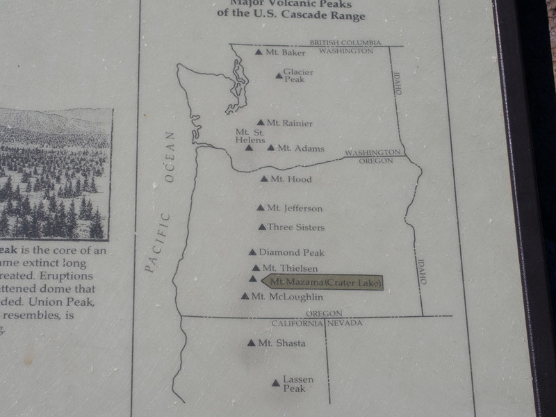 This is a nice little map showing where all of the major volcanoes are along the Cascades