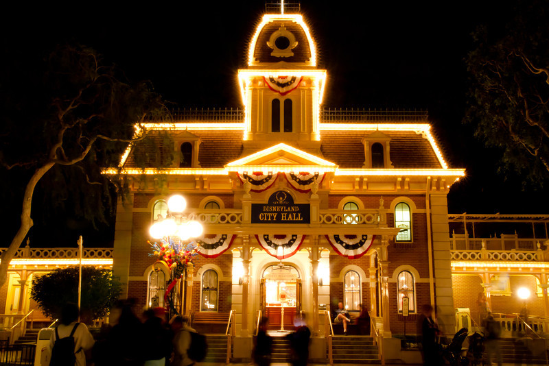 Disneyland City Hall At Night