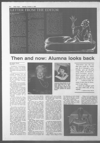 Daily Trojan, Vol. 107, No. 19, October 03, 1988