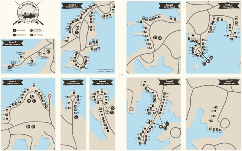 Hamilton Branch State Park (Campground Maps)