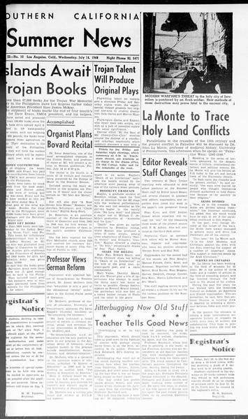 Summer News, Vol. 3, No. 10, July 14, 1948