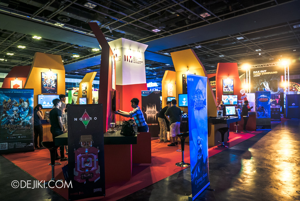GameStart Asia 2017 Singapore gaming convention - International Game Developers Association of Singapore (IGDA) and the Infocomm Media Development Authority (IMDA) booths