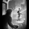 Ignored: Charlie confronts the mysterious clockwork man at Franklin Park