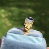 1.55ctw Old Mine Cut and Sapphire Gypsy Ring, GIA 27