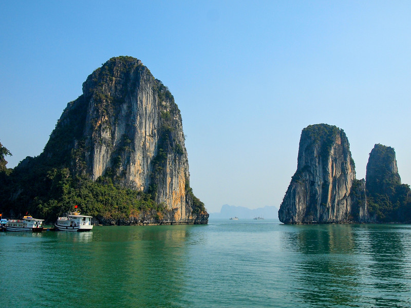 Limestone karts in Ha Long Bay