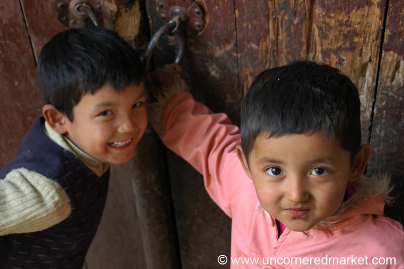 Uighur Kids in Old Kashgar, China