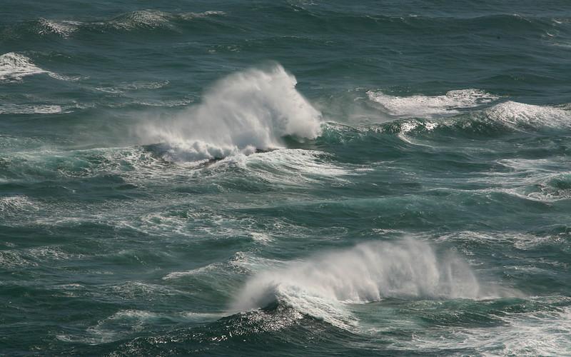 Hier treffen sich der pazifische Ozean und die Tasmanische See