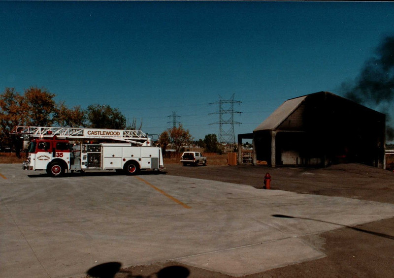 Squirt 35 at Metro Fire Training Center