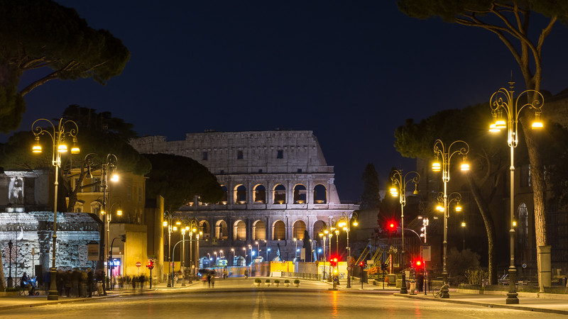 Via dei Fori Imperiali and the Roman Colosseum