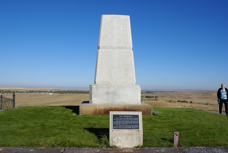 The remains of all the soldiers were shifted to this site where Col.custer fell and a monument was erected to their memory.It is interesting to know that one of the fallen was a journalist who had come with the troops to send back news of the supposed routing of the Indians by Custer.