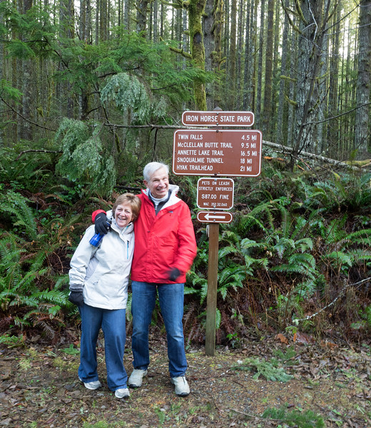 Mom and Dad along the Iron Horse Trail.