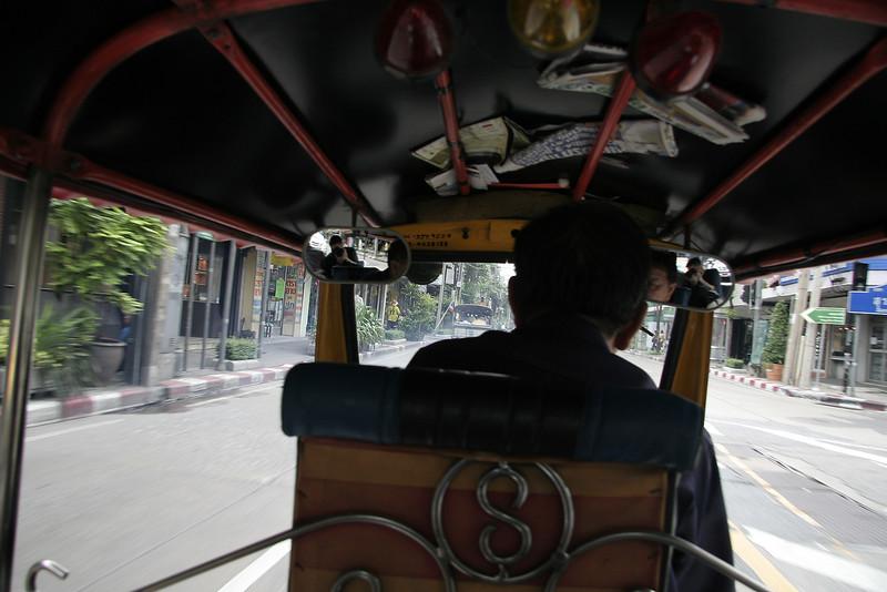 Our first Tuk Tuk ride in Bangkok.