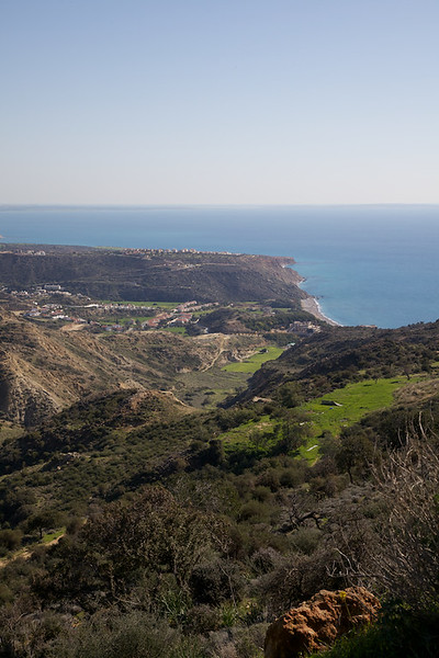 View down to the bay at Pissouri