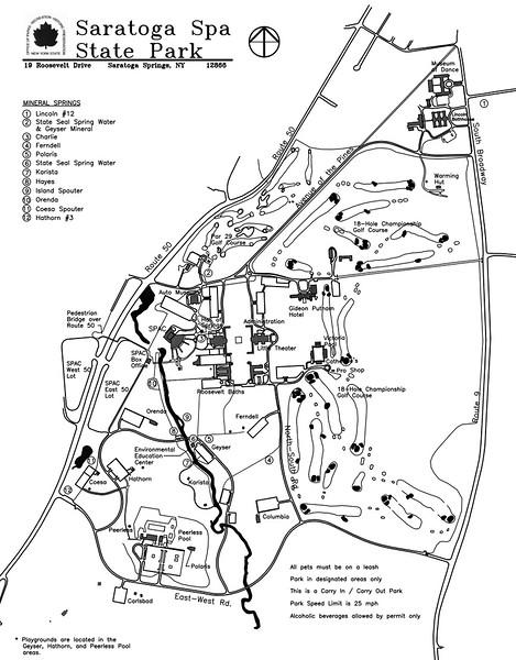 Saratoga Spa State Park (Facilities Map)