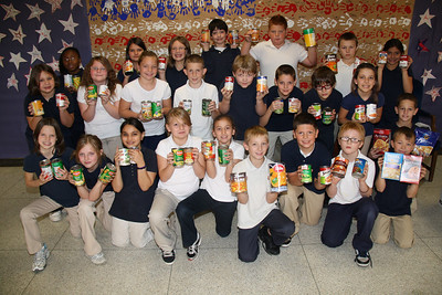Food Donation to Tamaqua Salvation Army, Elementary School, Tamaqua (11-21-2011)
