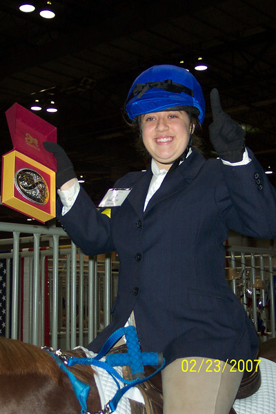 Shelby wins a belt buckle at Top Hands 07!