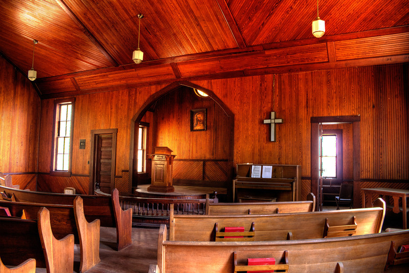 Interior of Sardis Methodist Church - Pine Grove, AR