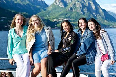 TASIS Seniors Enjoy an Evening on Lake Lugano