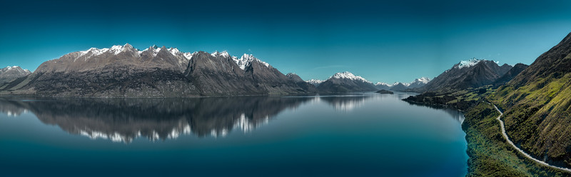 Panorama Of Lake Wakatipu