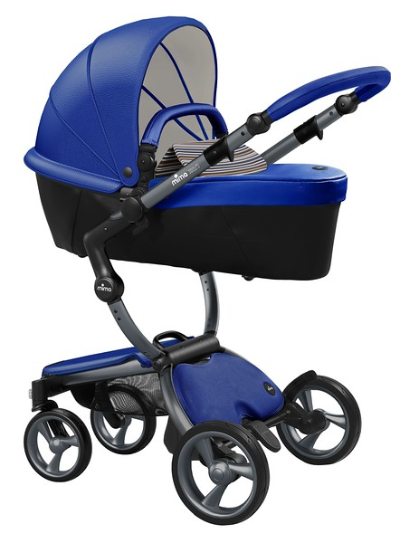 Mima_Xari_Product_Shot_Royal_Blue_Graphite_Chassis_Autumn_Stripes_Carry_Cot.jpg