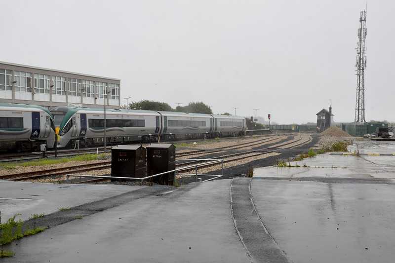 Realinged track at Galway 22 July 2020 22346 & 22207