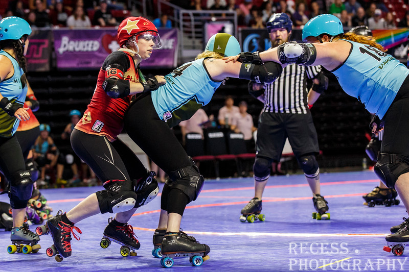 WFTDA 2017 Championships - Game 2 - Minnesota vs Angel City ©Keith Bielat