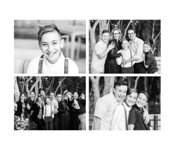 Bar Mitzvah Party Photography at the UCSD Faculty Club - Pre-Party Family Photographs -  Shane 02/23/2019